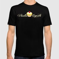 VANILLA CUPCAKE Mens Fitted Tee Black SMALL