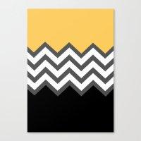 Color Blocked Chevron 6 Canvas Print
