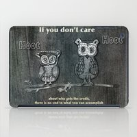 Two Hoots iPad Case