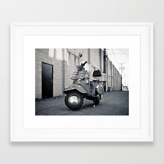 Alleyway Vespa Framed Art Print