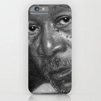 Morgan Freeman Traditional Portrait Print iPhone 6 Slim Case