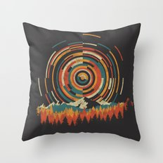 The Geometry of Sunrise Throw Pillow