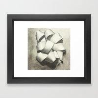 Ribbon - Graphite Illustration Framed Art Print