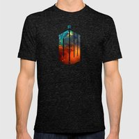Doctor Who V Mens Fitted Tee Tri-Black SMALL