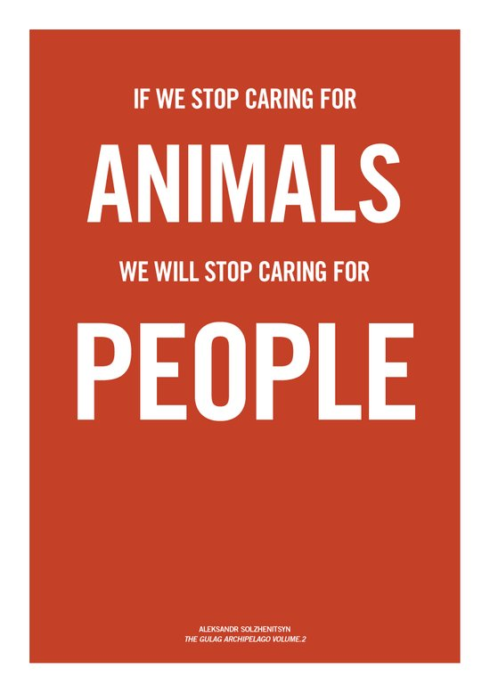 If we stop caring for animals Art Print
