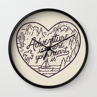Adventure is where your heart is Wall Clock