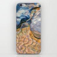 Abstract beautiful rocks on the sand iPhone & iPod Skin