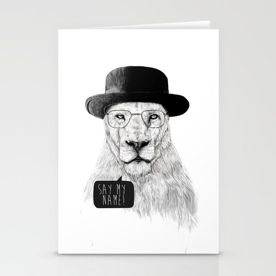 Say my name Stationery Card