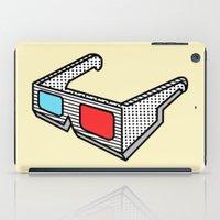 3d glasses iPad Case