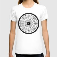 Compass Rose Womens Fitted Tee White SMALL