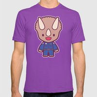 Dino Cop Mens Fitted Tee Ultraviolet SMALL
