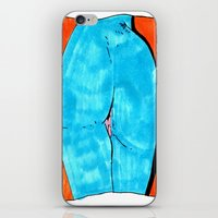 blue butt iPhone & iPod Skin