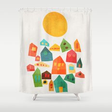 Looking At The Same Sun Shower Curtain