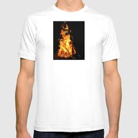 Fire Demon Mens Fitted Tee White SMALL