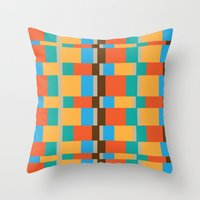color patterns Throw Pillow