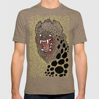 Monstrous and Free Mens Fitted Tee Tri-Coffee SMALL