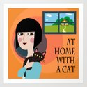 With a Cat Art Print