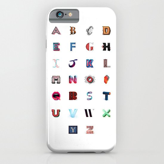 Illustrated Letters - Set One iPhone & iPod Case
