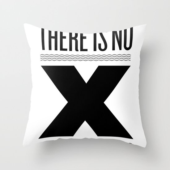 No X in Espresso – Black Throw Pillow