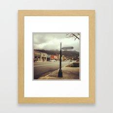 Town Square Framed Art Print