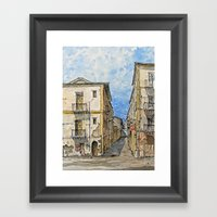 A Day in Palermo, Italy Framed Art Print