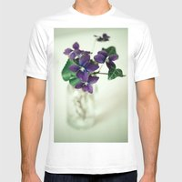 Sweet Violet Mens Fitted Tee White SMALL