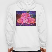 Roses with sparkles and purple infusion Hoody