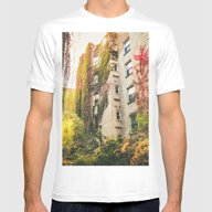 Autumn - New York City -… Mens Fitted Tee White SMALL