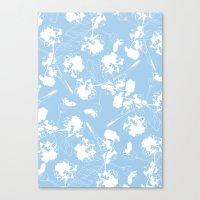Hydranga Pattern  - Blue… Canvas Print