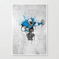 This Is FOOTball Canvas Print