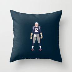 Pats - Tom Brady Throw Pillow