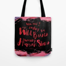 Quote design from Queen of Shadows - Wild Beasts - Black Tote Bag