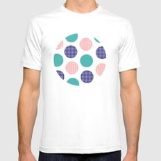 Stripes, Spots And Dots,… Mens Fitted Tee White SMALL