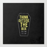 Think Outside The Box, W… Canvas Print