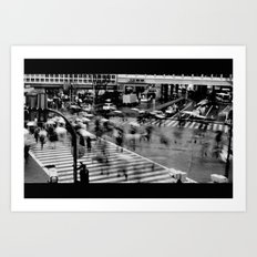 Shibuya Crossing Motion Art Print
