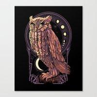 Owl Nouveau Canvas Print