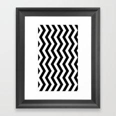 PATTERN#01 =STRIPES/BLACK+WHITE= Framed Art Print