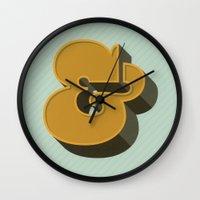 Heavy Ampersand Wall Clock