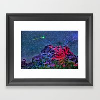 Over Camelback Mountain Framed Art Print