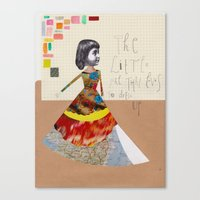 The little girl that loves to dress up Canvas Print
