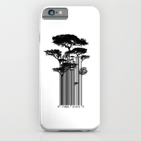 Barcode Trees illustration  iPhone & iPod Case