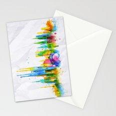 Color Barcelona Skyline Stationery Cards