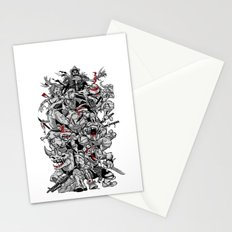 Nuclear Ninja Turtles Black and White Stationery Cards