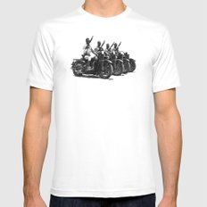 Four Horsemen SMALL White Mens Fitted Tee