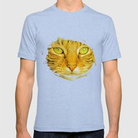 SPARKLE CAT Mens Fitted Tee Tri-Blue SMALL