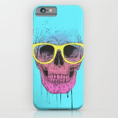 Pop art skull with glasses Slim Case iPhone 6s