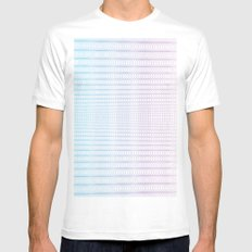 Circle Gradient Mens Fitted Tee White SMALL