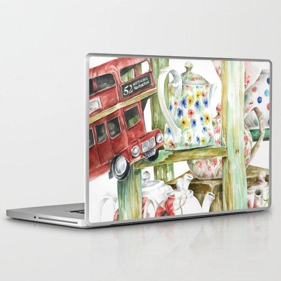 Alice's Teapots Laptop & iPad Skin