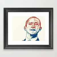 Red, White And Obama Framed Art Print