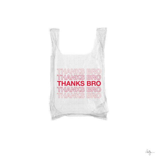 Douche Plastic Bag Art Print